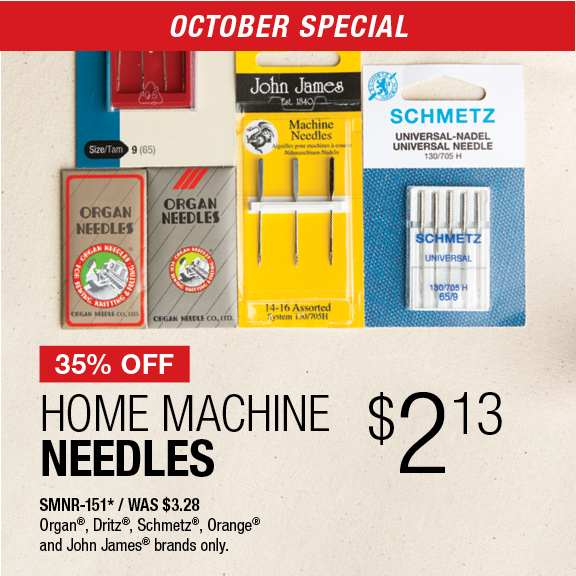 35% Off Home Machine Needles